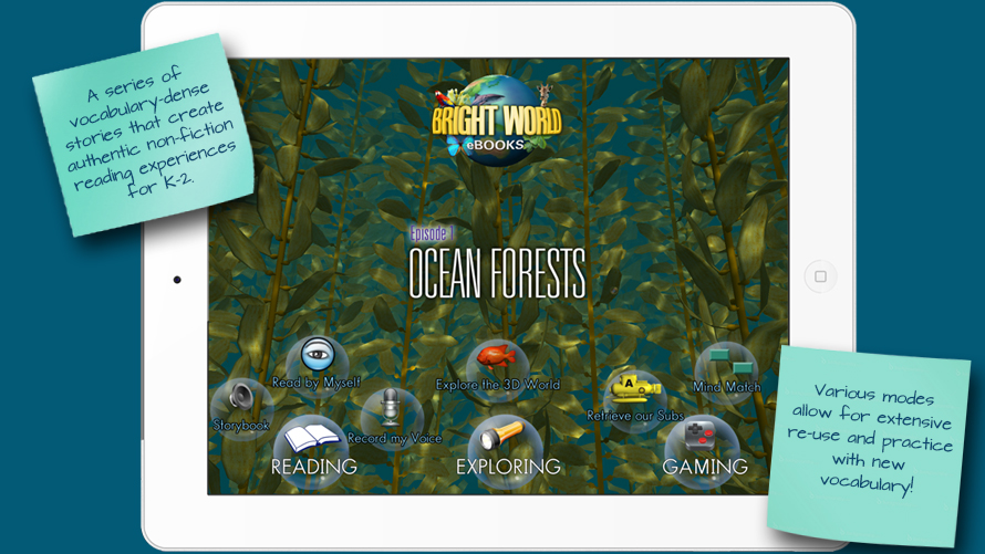Bright World eBooks product features, Ocean Forests